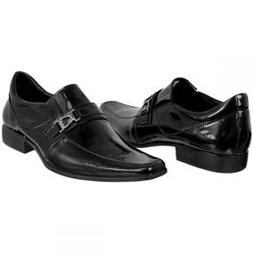 Sapato Social Masculino Brilhoso Bmbrasil 100% Couro