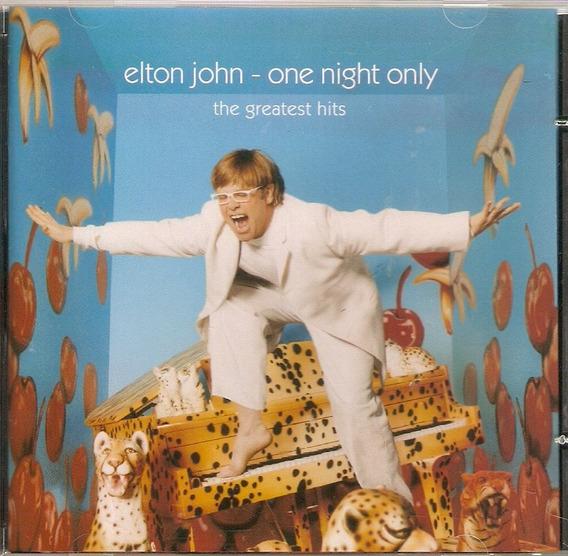 Cd Elton John - One Night Only - Novo***