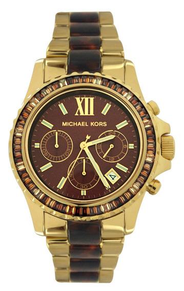 Relógio Luxo Michael Kors Mk5873 Orig Chron Anal Swarovski!!