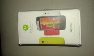 Caja De Motorola Moto G Primera Generación + 3 Carcasas