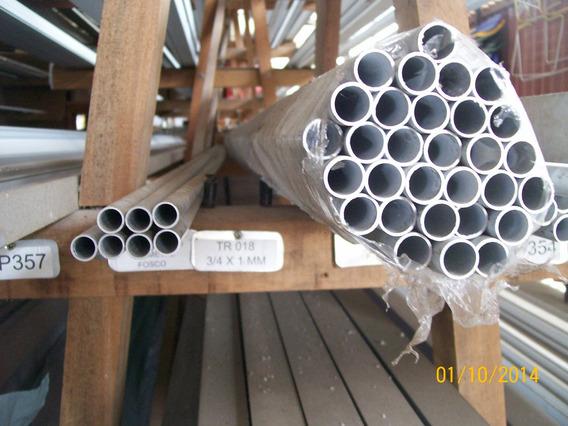 Tubo Redondo De Alumínio Natural 7/8(22 X 1,0 X 650mm)2pç