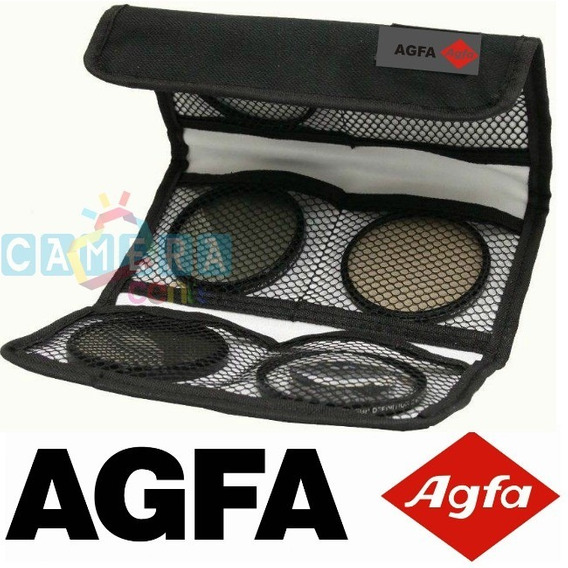 Agfa Kit 3 Filtros: Uv Cpl Hoya Canon Rebel 58mm T4 T5 T6 T7