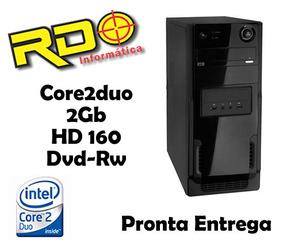 Cpu Barato Intel Core2duo 2gb Hd160 Dvd Gabinete Novo 100%