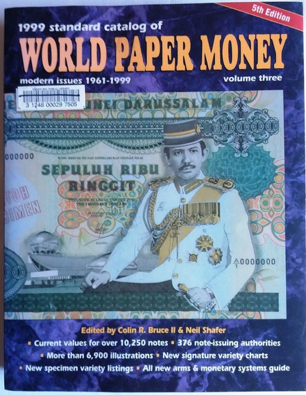 Catálogo De Cédulas World Paper Money 1999 5th Edition