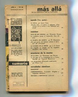 Revista Más Allá, De Ciencia Y Fantasía, N° 32, Enero 1956