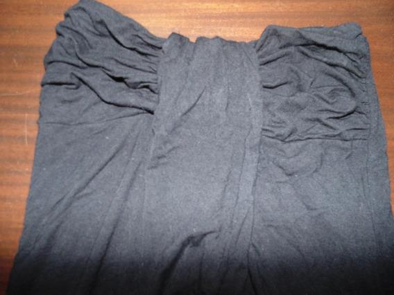 Remera Straples Top Modal Color Negro