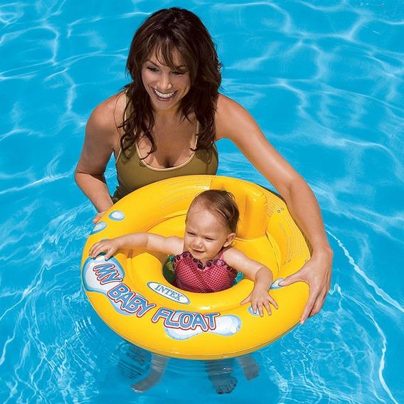 Boia Infantil Baby Bote Inflável - Assento Em Faixa Intex