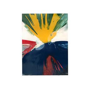 Quadro Em Pintura Abstrata - 1,21x0,90 M - Cód 012