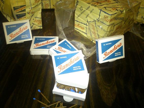 36 Cajas Fosforos Ranchera Antiguos Pack Sellado Y Encienden