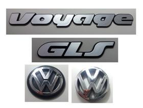 Kit Emblema Volkswagen Voyage Gls Vw Mala Grade 91/97 Brinde