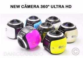 Mini Câmera 360° + Óculos Vr 3d + Micro Sd 64 Gb Original