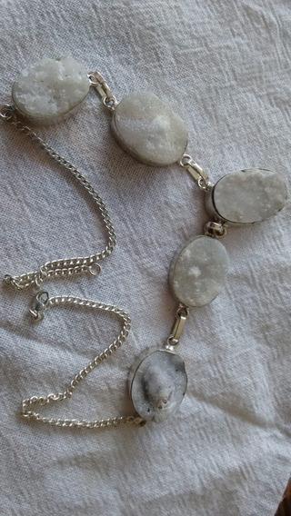 Colar Prata Pedra Natural, Frete Grátis, Presente Natal.