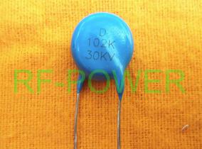 Kit 10 Peças Capacitor 102 X 30kv 1k 1nf X 30kv Alta Voltage