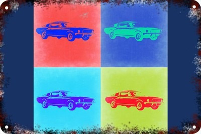 Poster Carteles Antiguos Chapa 60x40cm Ford Mustang Au-027
