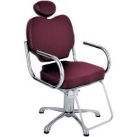 Cadeira Salão De Cabeleireiro Cromada Gobbi Hidráulica