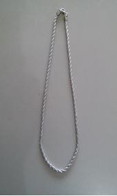 Corrente Fina Aço Inox 316l Trançada(cor Prata)