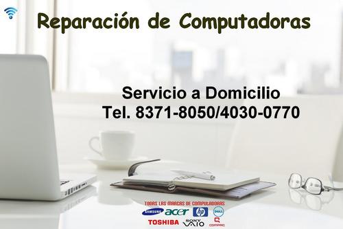 Imagen 1 de 4 de Reparacion De Notebook, Pc Y Laptops A Domicilio - Windows