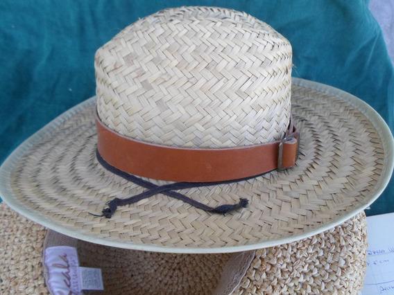 Sombrero Empajado Hecho En Mexico Tamaño Grande Mbestado
