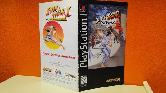 Manual Original- Street Fighter Alpha - Playstation 1