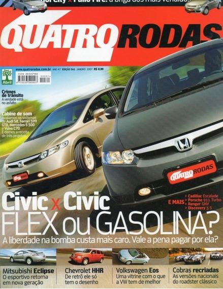 Quatro Rodas Nº561 Civic Chevrolet Hhr Cobra Eclipse Vw Eos