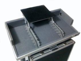 Case Aluminio Cdj Mixer Plataforma Notebook Regua Passa Fio
