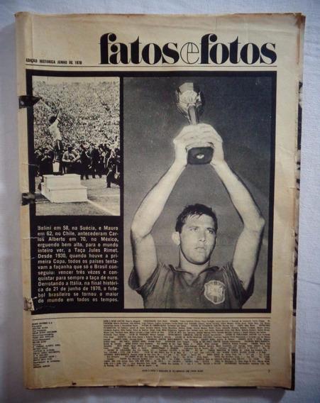 Revista Fatos E Fotos Copa 70 Julho 1970