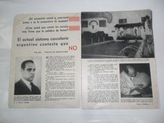 Sistema Carcelario Roberto Pettinato Nota Periodistica 1953