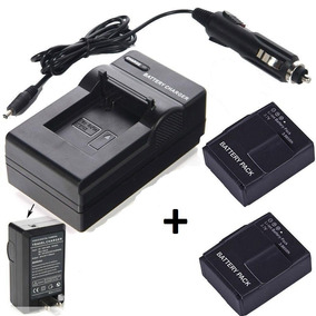 Kit 2 Baterias + Um Carregador Para Gopro Hero3 Hero3+ Black