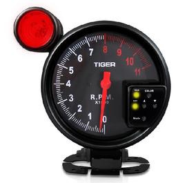 Velocímetro Conta Giro Led7 Cores/shift Light Preto/vermelho