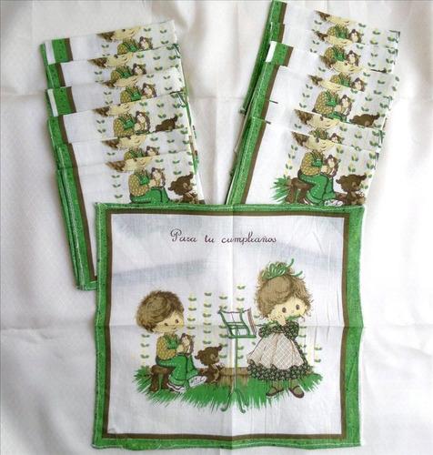 Imagen 1 de 4 de Pañuelo Infantil Felíz Cumpleaños - Retro Original - Nuevo