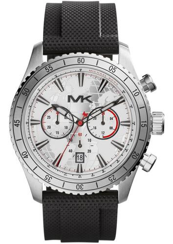 Relógio Michael Kors Mk8353 Richardson Orig Silver Silicon