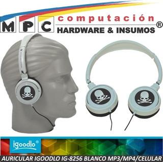 Auricular Igoodlo Ig-8256 Blanco Mp3/mp4/iPod/celular New