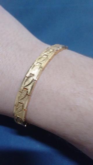 Pulseira Dourada Aço Inox