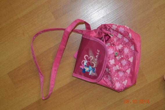 Mochila Morral Cartera Plastica Original Minnie Disney