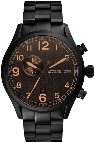 Relógio Michael Kors Mk7067 Hangar Chron Anal Black Edition