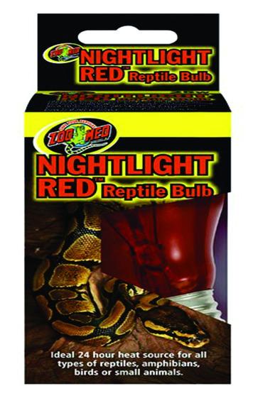 Lâmpada Noturna Vermelha Nr-100 P/ Répteis Zoomed 100w