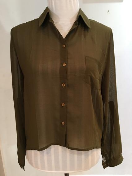 Camisa De Gasa Verde Militar