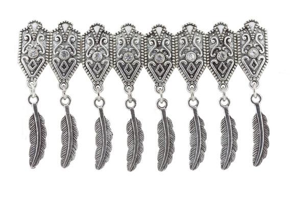 Bracelete Feather Strass - Unico