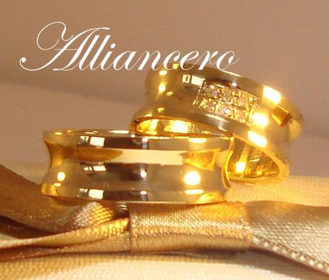 Aliança Ouro 18k 13gr - Frete Gratis - Casamento Alliancero