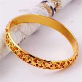 Pulseira Bracelete Foleada Ouro 14k Novo