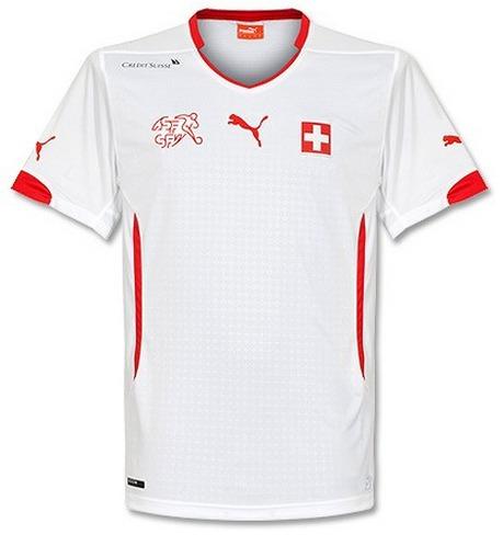 Camisa Suiça Away 14-15 Importada