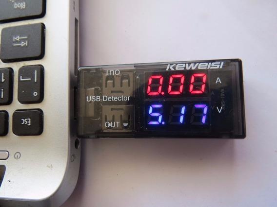 Testador Usb Medidor Voltagem Amperagem Capacidade Corrente