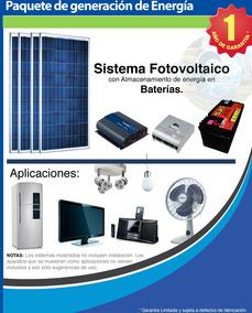 Kit 1 Panel Solar Fotovoltaico/ Planta Electrica Solar Hgm
