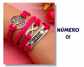 Pulseira Bracelete Feminina Couro Sintético