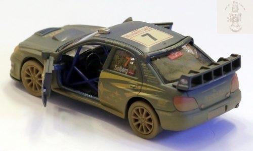 Auto Subaru Rally Embarrado Replica Metal Kinsmart 1/36 Full