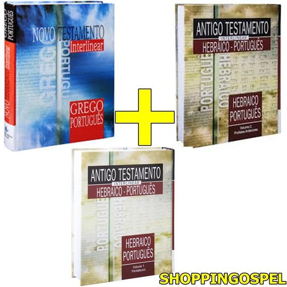 Antigo Novo Testamento Interlinear 3 Vols + Lexico Analitico