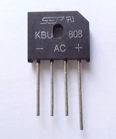 Ponte Retificadora Kbu 808 8a 800v Pequiberry