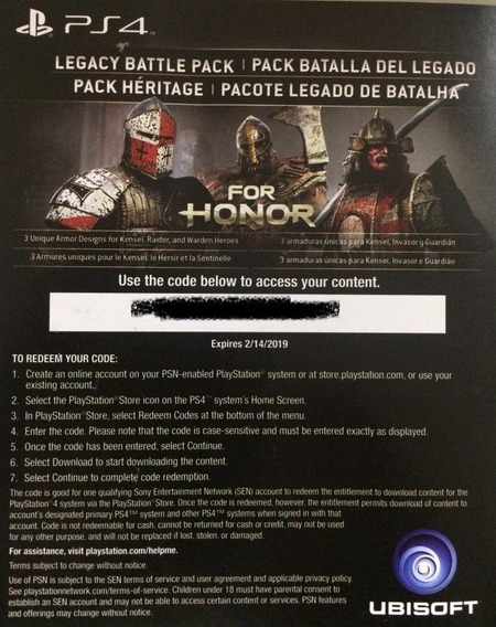 Dlc - For Honor - Ps4