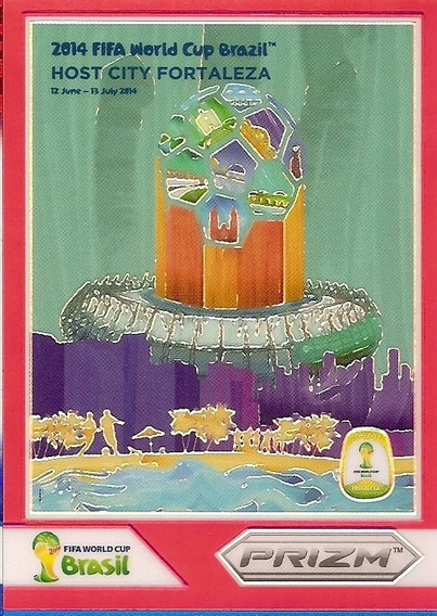 2014 Panini Prizm Host City Fortaleza Ceará Card Refractor