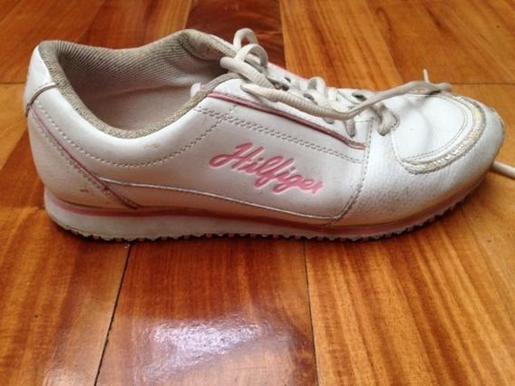 Zapatillas Tommy Hilfiger De Cuero Para Dama